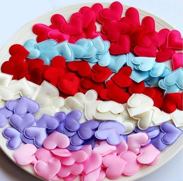 100pcs Fabric Heart dia 3.2x3.2cm Wedding Party Confetti Table Decoration birthday party Decorative Supplies