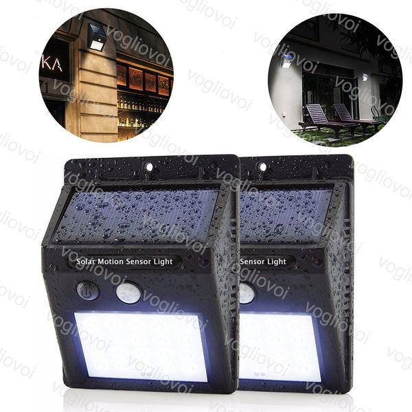 Güneş Led Dış Aydınlatma 20 LEDs 30 LEDs PIR Güneş Panelleri Güç Yüksek Parlaklık İnsan Vücudu İndüksiyon Lambası Duvar aydınlatma avlu lamba DHL