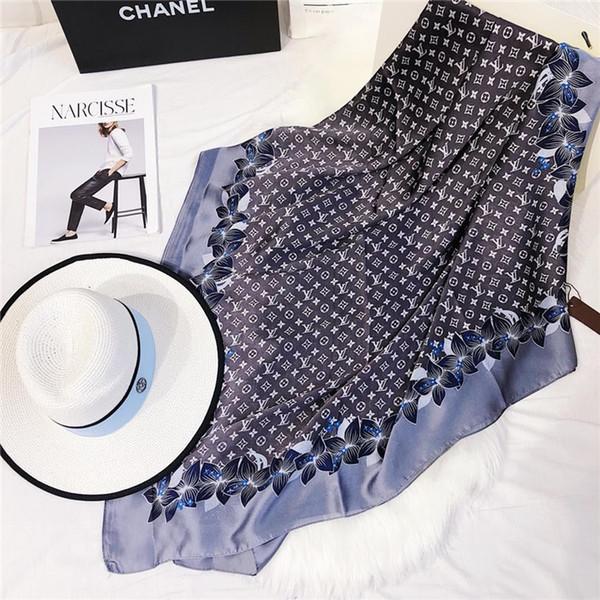 wholesale-21 stile HOT donne sciarpa di seta design classico moda sciarpa 180x90 cm caldo morbido moda sottile scialle sciarpe RT679