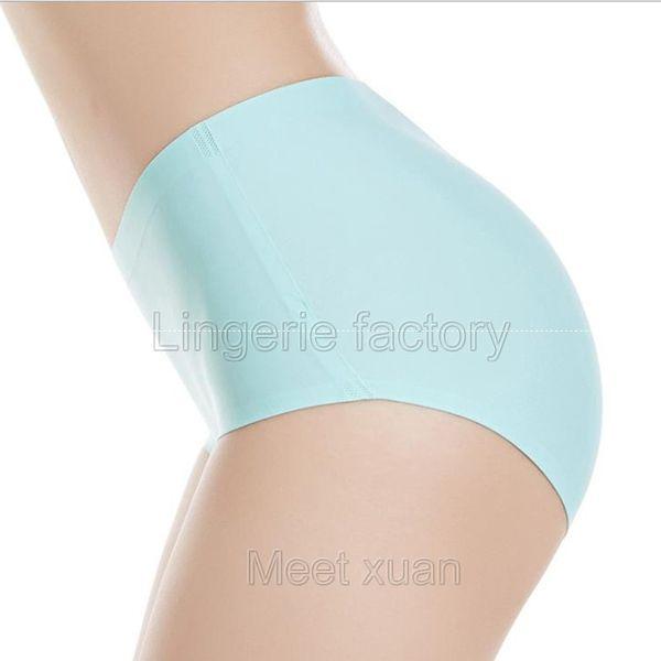 XXL High Quality Women's Seamless Panties Solid Ultra-thin Panties Underwear Women's Sexy low-Rise Ruffles Briefs Lingerie