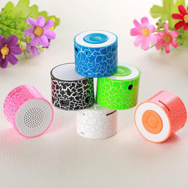Crackle desigin portable mini speaker CUTE fashion HD sound audio player external sound USB Digital MP3 playerr support TF card Xmas gift