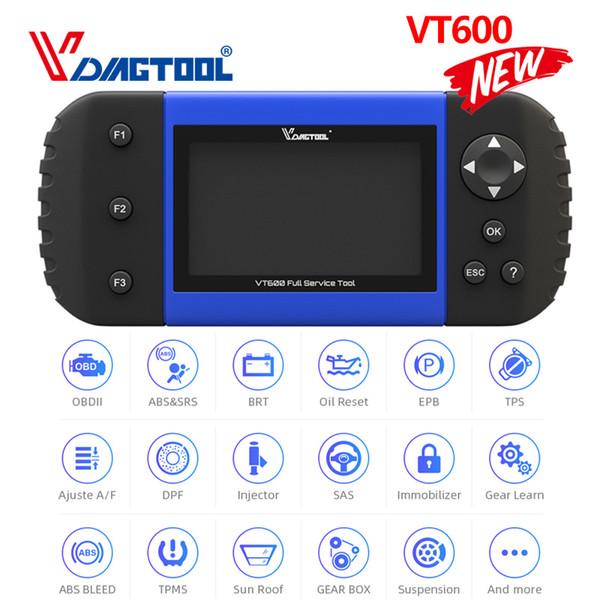 VT600 Programmatore chiave OBD2 Scanner per autoveicoli Diagnostica Strumento motore ABS SRS EPB Oil Service Reset codice iniettore