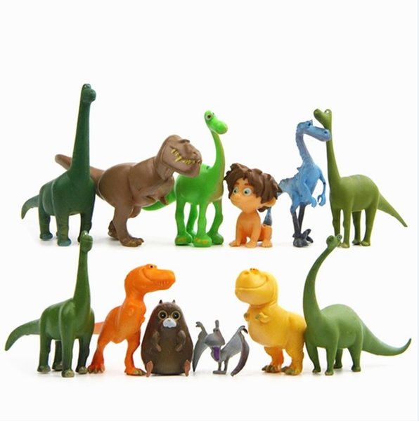 12 Pcs/Set Cartoon The Good Dinosaur 3D Cute Action Figure Model Cake Topper Model Collection Toy For Kids Gift