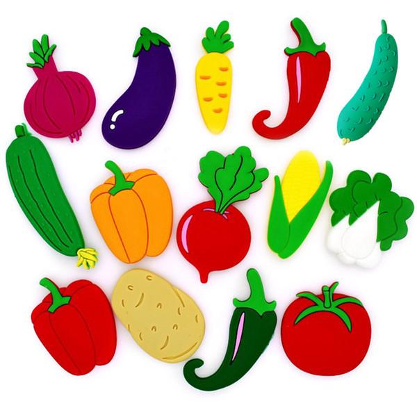Compre Frutas Verduras Imanes De Nevera Granja Decoración Pizarra Etiqueta De Dibujos Animados Paster Kids Home Puerta De Coche Ornamento A 3306 Del