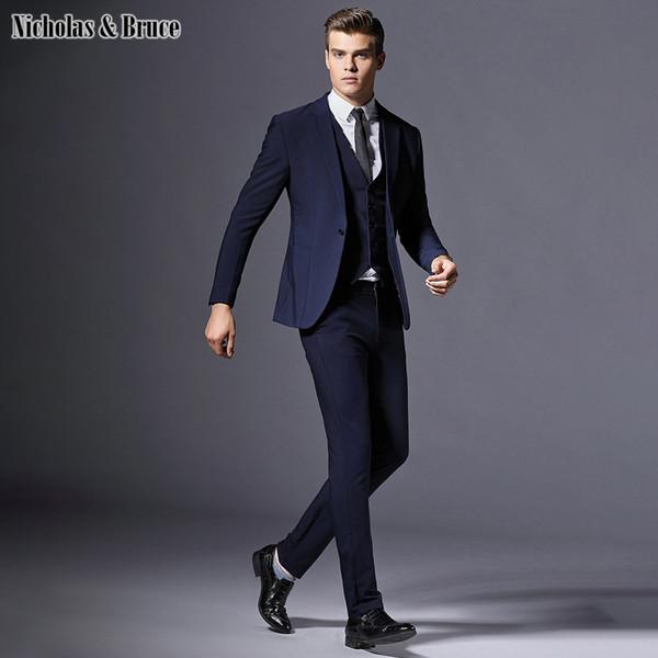 36ed9cb75387c NB erkek Klasik Takım Elbise Erkek Pantolon Ile Suits Son Pantolon Ceket  Tasarımları Iş Resmi Takım
