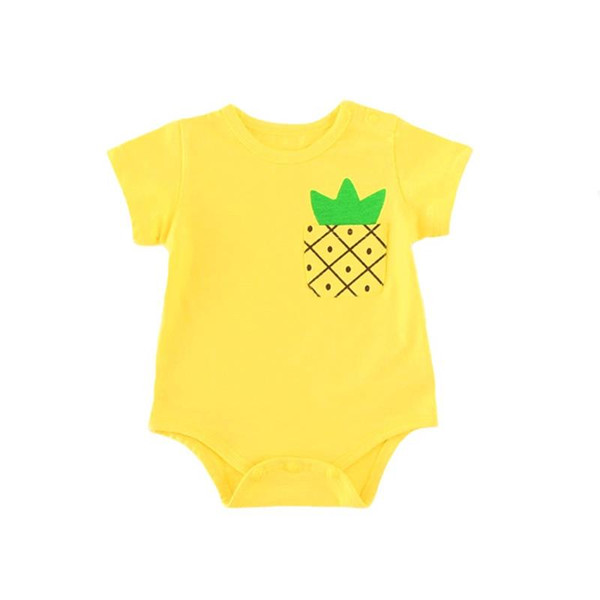 Baby Boy Girl Clothes Newborn Bodysuit Infant Summer Short Sleeve Casual Cute Jumpsuit Strawberry Pineapple Toddler Outfit