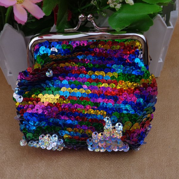 Mermaid Sequins Coin Purse Fashion Mini Pattern Womens PU Wallets Holders Party Home Cute Coin Purses Gifts 100pcs