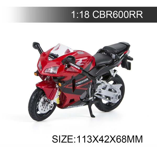 1:18 Motorcycle Models CBR600RR Model bike Alloy Motorcycle Model Motor Bike Miniature Race Toy For Gift Collection