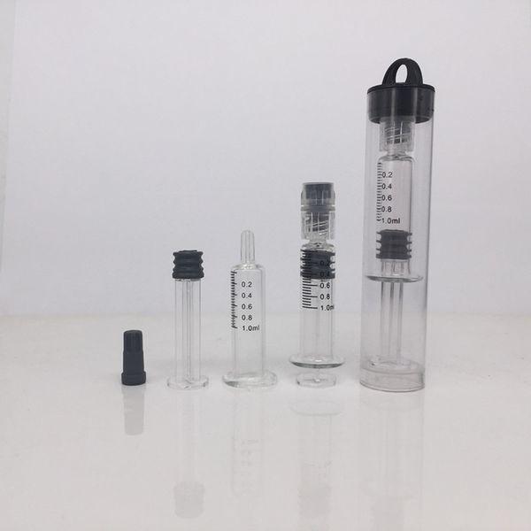 Iniettore di siringhe di vetro da 1 ml Luer Lock Head con indicatore di misurazione e strumenti di olio di co2 per imballaggio al dettaglio