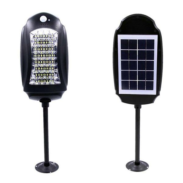 Impermeable 32led Solar Street Lights Lámpara de jardín al aire libre Luces + Sensores de movimiento Solar Lámpara de pared Seguridad vial Luz de emergencia con control remoto