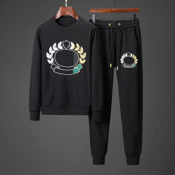 Erkekler Tasarımcı Eşofman Buğday Marka Moda Kazak + Pantolon Kulak Bahar Sonbahar Uzun Kollu Setleri Lüks Artı Boyutu M-3XL EAR19931 B100206V