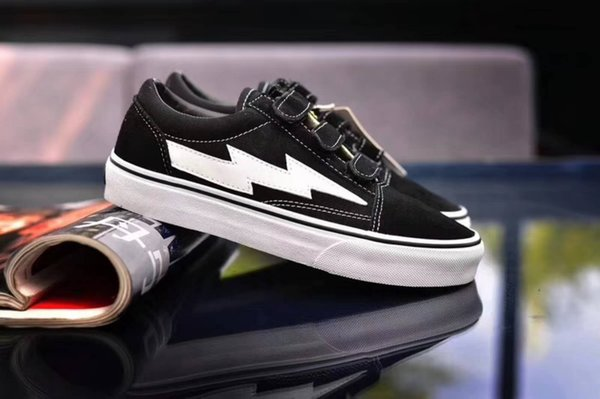 Mais recente Revenge x Tempestade Sneakers Pop up Stores Top Quality Velho SKool Off Fashion Grade Homens Skate Vulcanizado Ins Sapatas de Lona 36-44