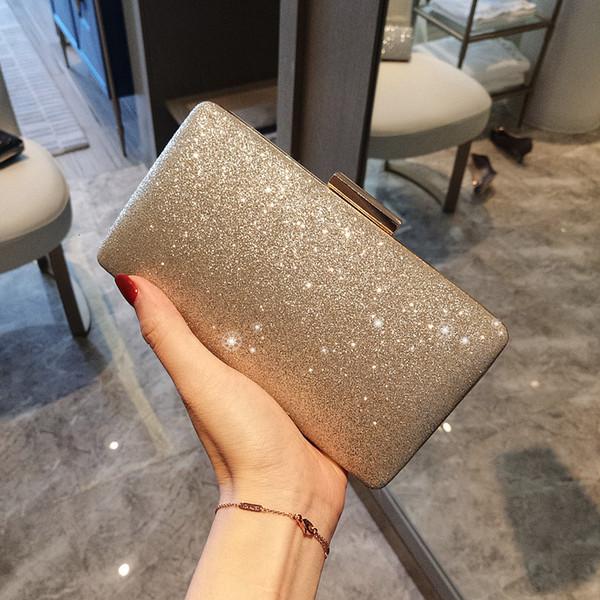 Donna Oro frizione Borse da sera del partito delle donne di nozze mano sacchetto nuziale di lusso mini borsa semplice bolsos di trasporto T191010