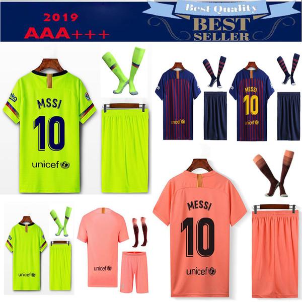 e8908ee08 2018 2019 Barcelona camisa de futebol 19 20 INIESTA SUAREZ ON.DEMBELE  terceiro 3RD rosa