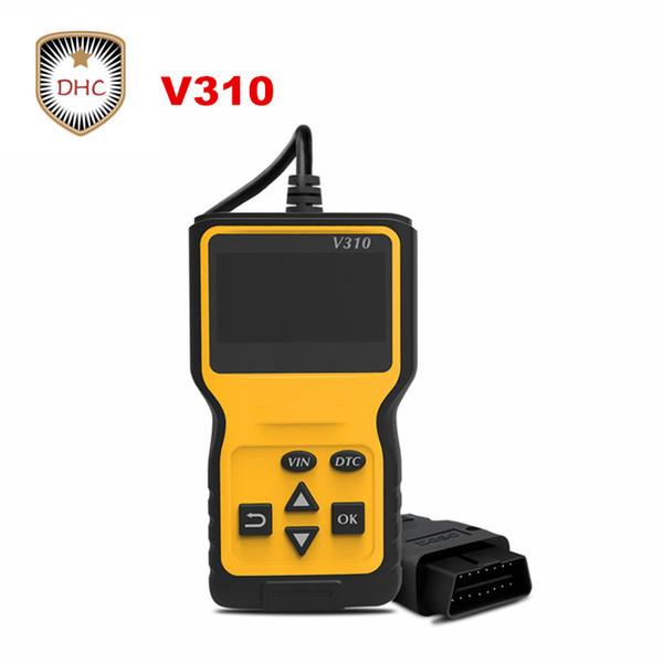 V310 OBDII EOBD Auto Code Reader Scanner six Languages Automobile Diagnostic tool v 310 For All OBD2 OBD II Protocols Cars