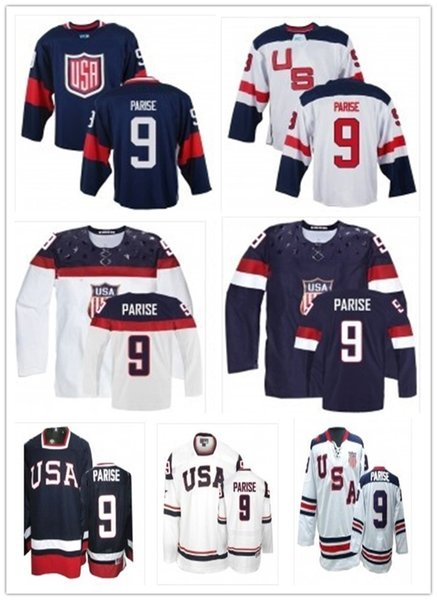 top can Team USA Jerseys#9 Zach Parise Jersey men#WOMEN#YOUTH#Baseball Jersey Majestic Stitched Professional sportswear