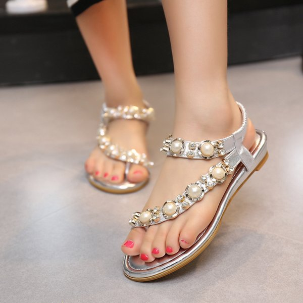 Women Sandals big size One-word drag Shoes Scuffs sandals Summer Fashion Wide Flat Slippery With Sandals Slipper flip flops