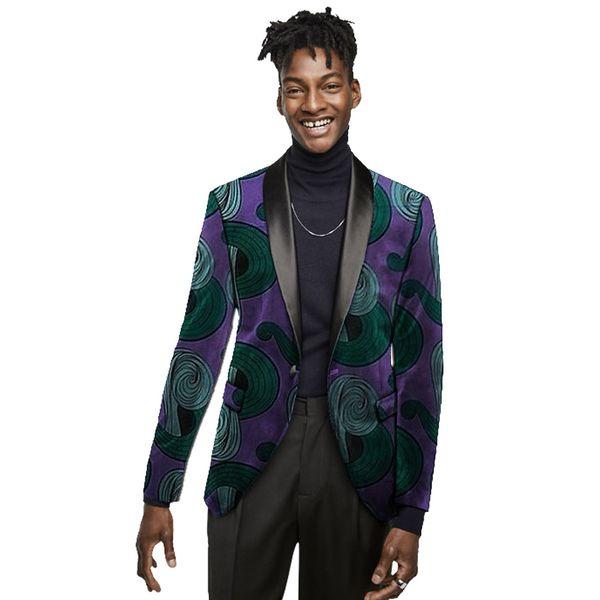 Men's blazers print suit jacket formal blazer wedding/party unique design dashiki male African clothing