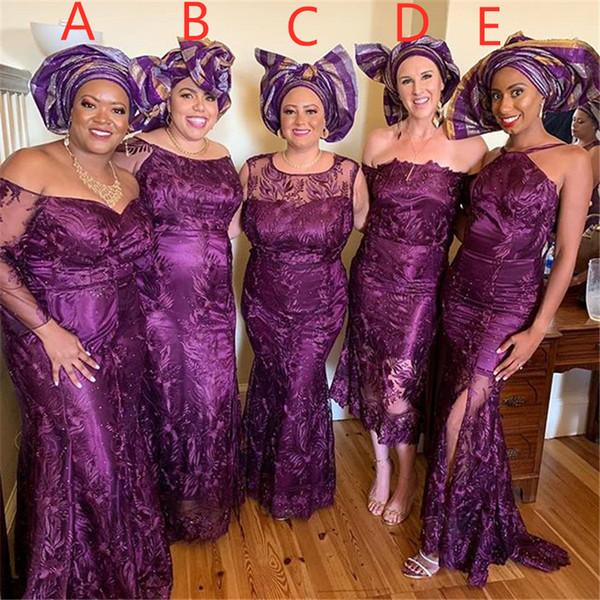 Vestidos de dama de honor de tul de satén morado Vestido de dama de honor Vestido de invitados de boda por encargo Vestidos de fiesta