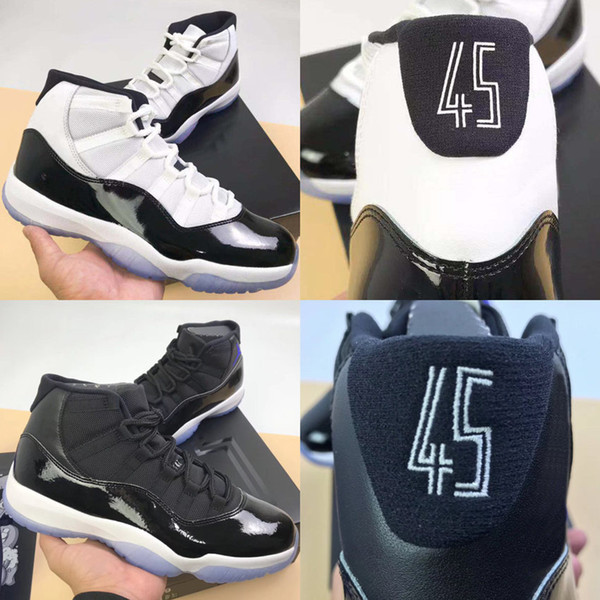 11 XI Space Jam Bred Nummer 45 Concord Basketballschuhe Herren Damen Schuhe 11S Platinum Tint Grau Wildleder Gammablau Sportschuhe 36-47
