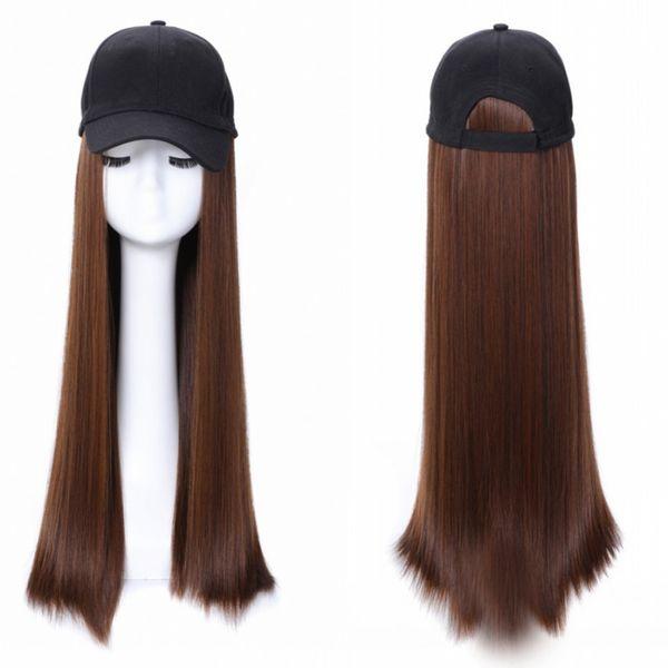 Sara Hot! Filles Lady Extension de cheveux raides Kinky avec capuchon intégré Party Miss Extension de postiche Chic 60CM, 24 pouces