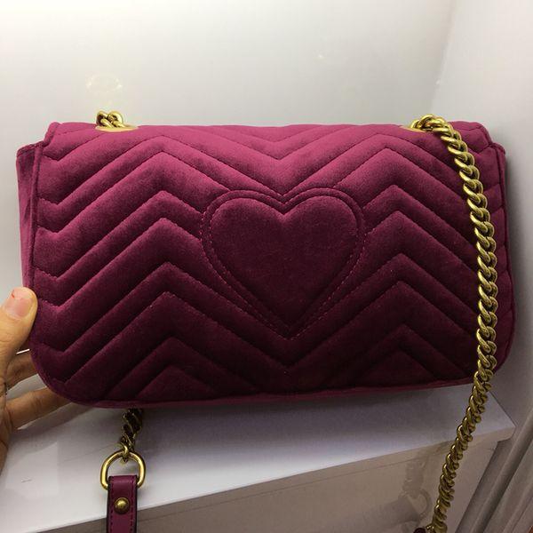 2019 Marmont 443497 Velvet + Leather Autunno Inverno Style Borse di lusso di alta qualità originali borse in vera pelle fodera di seta