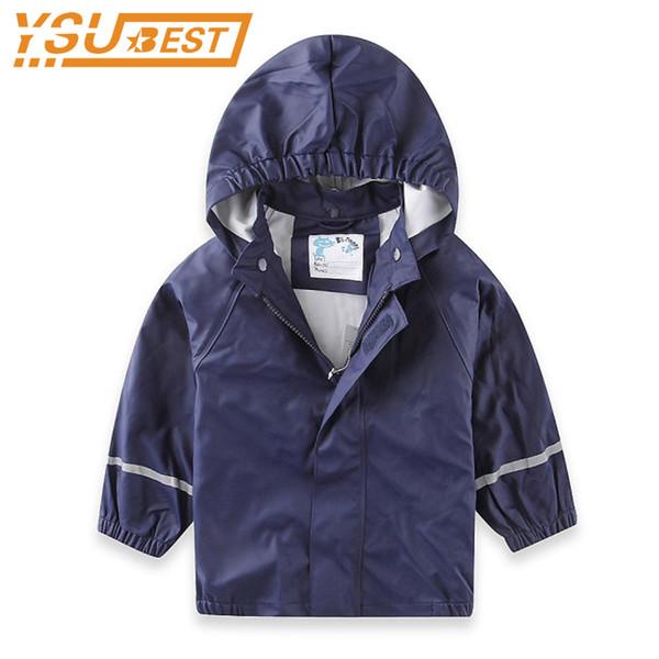 1-7Yrs Baby Girls Boys Waterproof Outerwear & Coat Girls Jackets Coats 2018 Fashion Raincoat Children Outwear Coat Kids Jacket