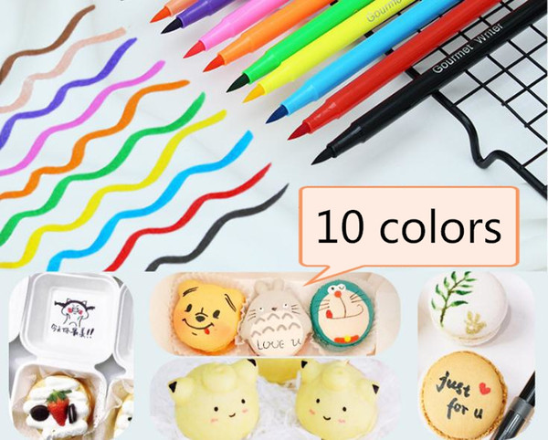 Edible Pigment Pen 5ml DIY Food Coloring Pens Biscuit Fondant Cake Writing  Painting Brush Cake Decorating Tool SN3633 Bakeware Online Shopping ...