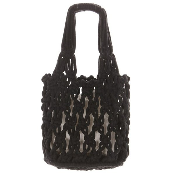 Fashion Popular Woven Bag Mesh Cotton Woven Mesh Lined Bag