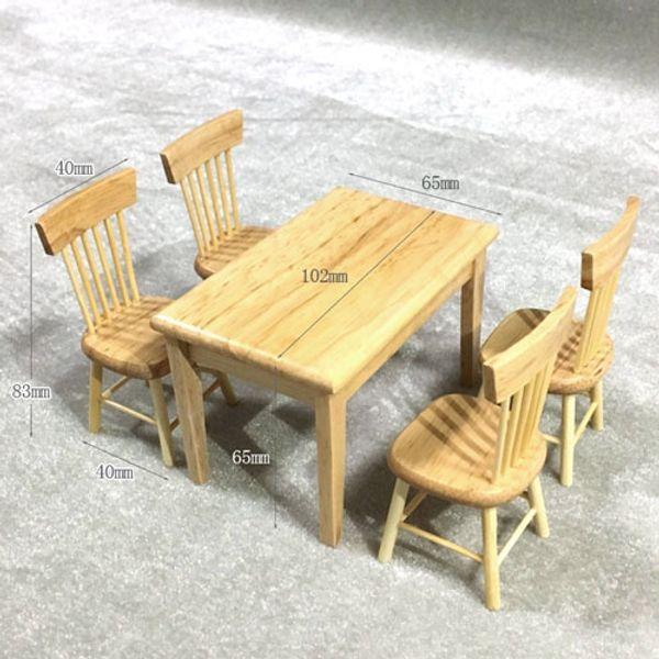 5pcs/set natural wood