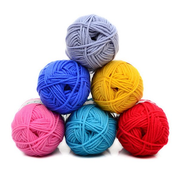 Cheap Hoomall 2.5MM 50g/lot DIY Milk Cotton Baby Wool Yarns For Knitting Hand Knitted Yarn Knit Blanket Crochet Yarn Sweater