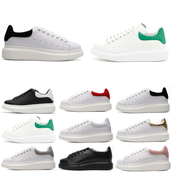 Alexander MCQueen New Human Race Hommes Femmes Sports baskets queue Tie-dye Pack solaire_1 rose lueur formateurs Pharell Williams Taille5-11