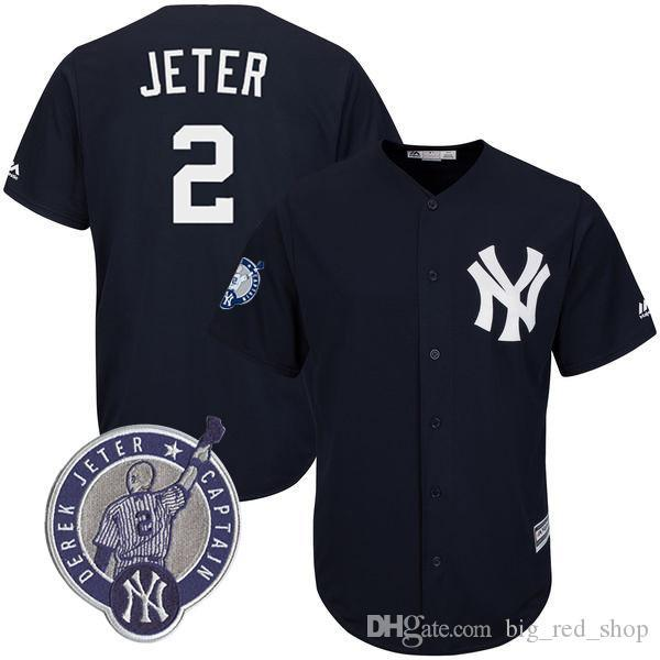 size 40 c5652 8c037 2019 Yankees Jersey 2 Derek Jeter 99 Aaron Judge 27 Giancarlo Stanton 24  Gary Sanchez 51 Bernie Williams 7 Mantle Baseball Jerseys From  Big_red_shop, ...
