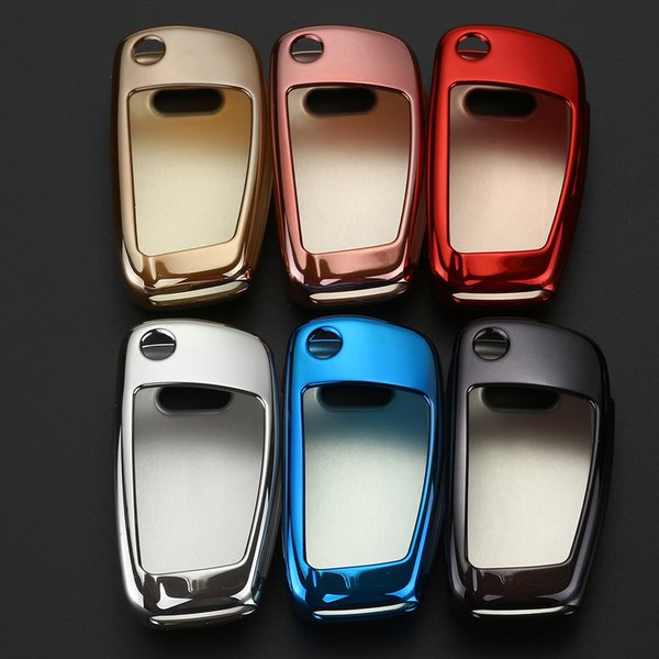 Styling Soft TPU Auto Key Protection Cover Case For Audi C6 A7 A8 R8 A1 A3 A4 A5 Q7 A6 C5 Car Holder Shell Car-Styling C19011001