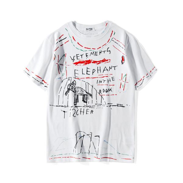 2019 Beste Sommer Männer Unisex Vetements T-Shirt Kurzarm Baumwolle übergroßen T-Shirt Casual Baumwolle Kurzarm T-Shirt T Top Weiß