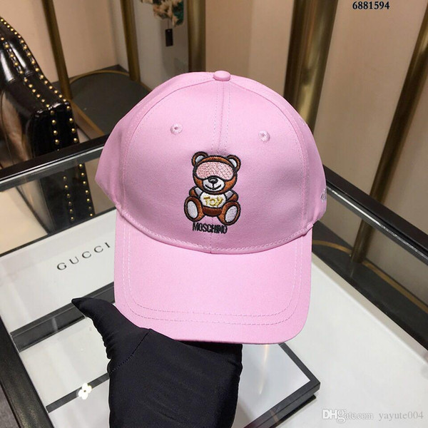 2018 Baseball Cap Embroidery DOG Sun Hats Adjustable Snapback Hip Hop Dance Hat Summer Outdoor Men Women with original box Visor