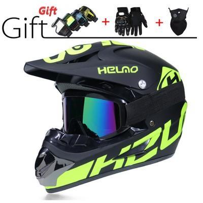 Top Hot Sale Off-road Casco de moto Medio casco Casco de cara abierta Dando gafas Máscara Guantes Casque De Moto TAMAÑO: M L XL Capacete