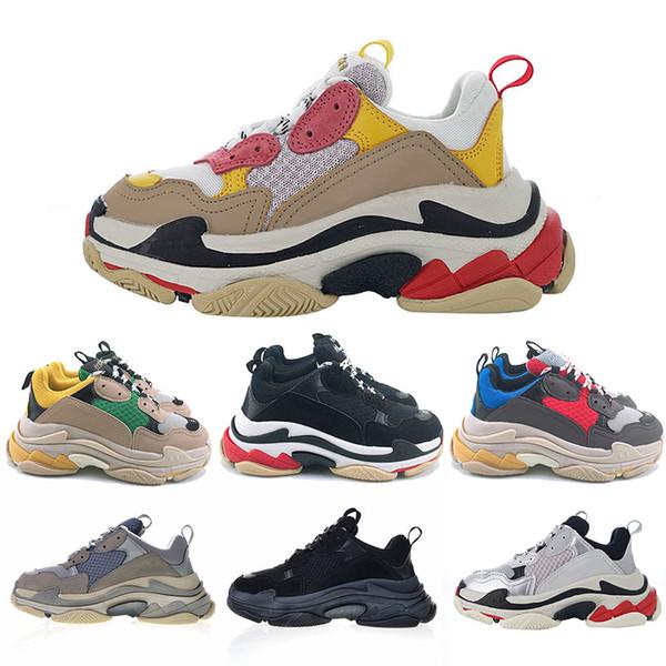 Hot Sale Women Paris Original Triple S Luxury Designer shoes Men Fashion Sneakers white pink Black Classic Outdoor Athletic Shoes Trainers