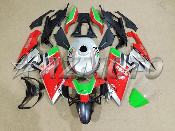 Nuevo kit de carenado completo ABS de la motocicleta + cubierta del tanque adecuado para Aprilia RS125 06 07 08 09 10 11 RS 125 2006 2011 Conjunto de carenados rojo personalizado