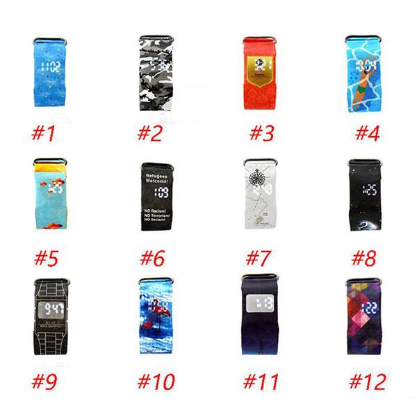24 conception Smart Paper Watch Mode imperméable à l'eau Magique LED Bracelets Montre avec boîte emballage pour Enfants jouets Présentez poignet DHL Chaude Livraison gratuite