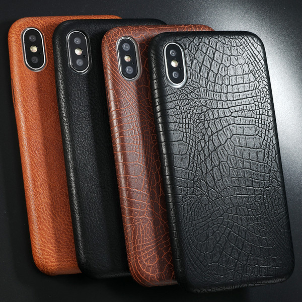 Leather Pattern Phone Case For Iphone 7 8 6 6s Plus Case Crocodile Skin Soft Back Cover For Iphone X Xs Max Xr Case