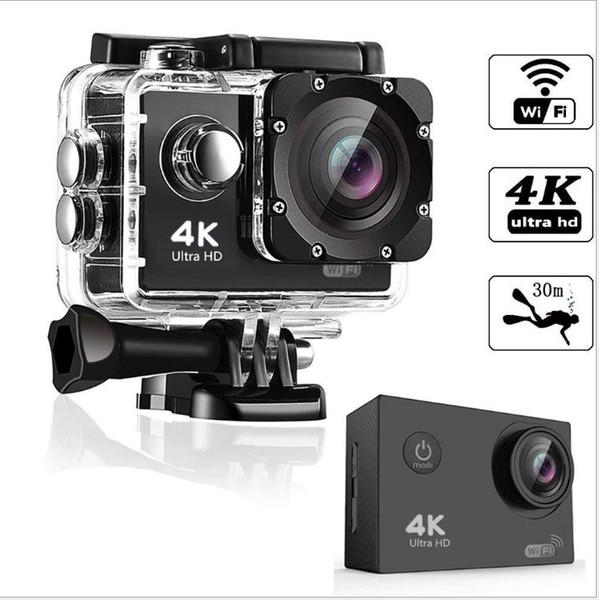 top popular Ultra HD 4K Sport Action Camera 30m WIFI Waterproof Video Camera 16MP 1080P 2.0 Inch LCD Helmet Cam Diving Recorder 2021
