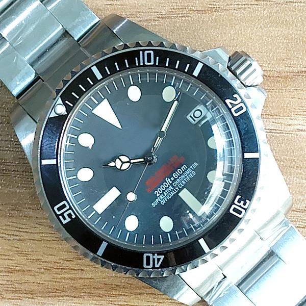 montre de lu Lüks saatler Vintage # 5514 Asya Hareket Otomatik Mekanik Hareket Paslanmaz Çelik Moda Marka Erkek İzle Bilek
