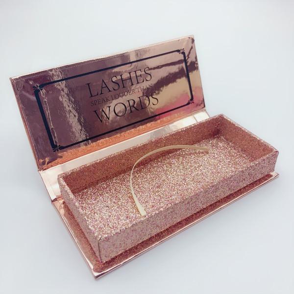Lüks Yanlış Kirpik Paket Kutusu 3D Vizon Kirpik ambalaj kutusu özel Kozmetik Glitter kağıt kirpikler kirpik ambalaj kutusu kasa