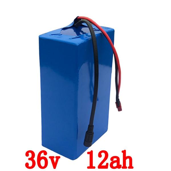 En gros 2pcs / lot 36v batterie 36v 12ah vélo électrique batterie 36v 12ah Lithium ion batterie avec 15A BMS + 42V 2A chargeur