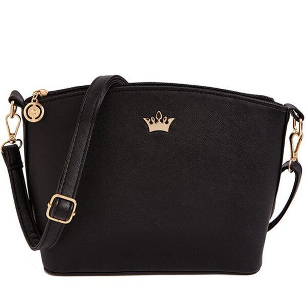 Hot Vendido Mini Mulheres Messenger Bags Shell Em Forma de Cruz Padrão de Boa Qualidade Saco Das Mulheres Com Coroa Imperial F40-548