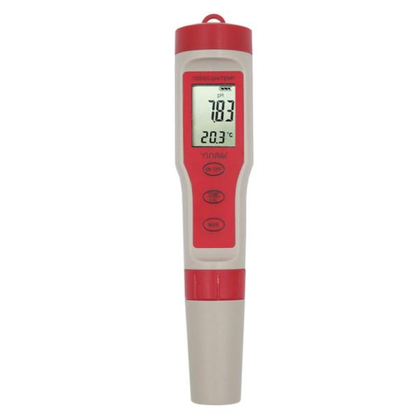 3 in 1 TDS multifunzionale Tester della temperatura del tester di pH della Penna Strumenti di misurazione di qualità dell'acqua di conducibilità TDS Tester di pH