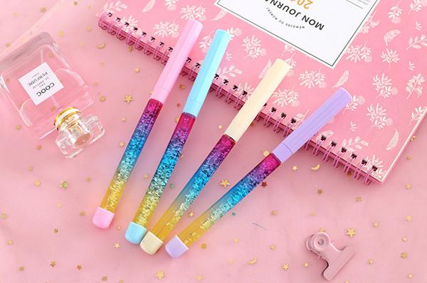 Лучшие продажи гелевые ручки струйка фея ручка волшебная палочка нейтральная ручка хрустальный шар ручка жидкий зыбучий песок творческий фея pen357