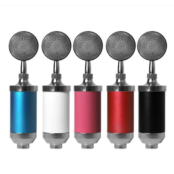 Fashion Recording Condenser Microphone Surround Stereo Mixwith Mount Pop Filter for Musical Instruments PC Laptop