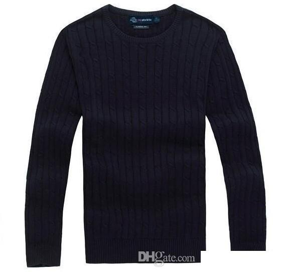 Free shipping 2018 new high quality mile wile polo brand men's twist sweater knit cotton sweater jumper pullover sweater Small horse ga